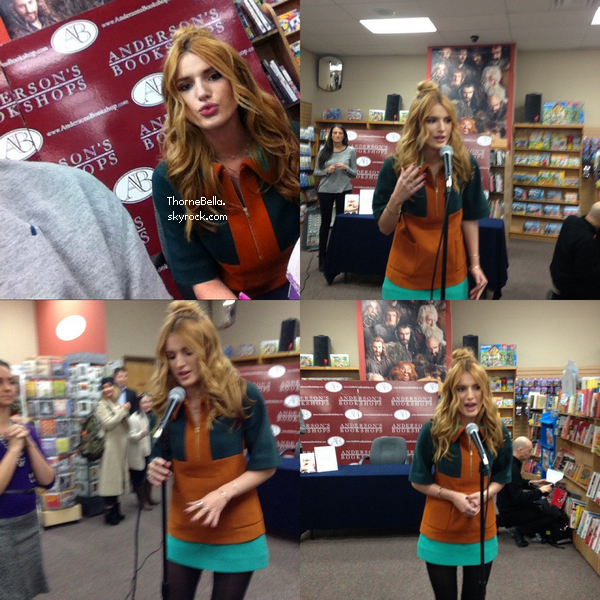 Bella à son meet&greet pour Autumn Falls à Chicago le 15 novembre.