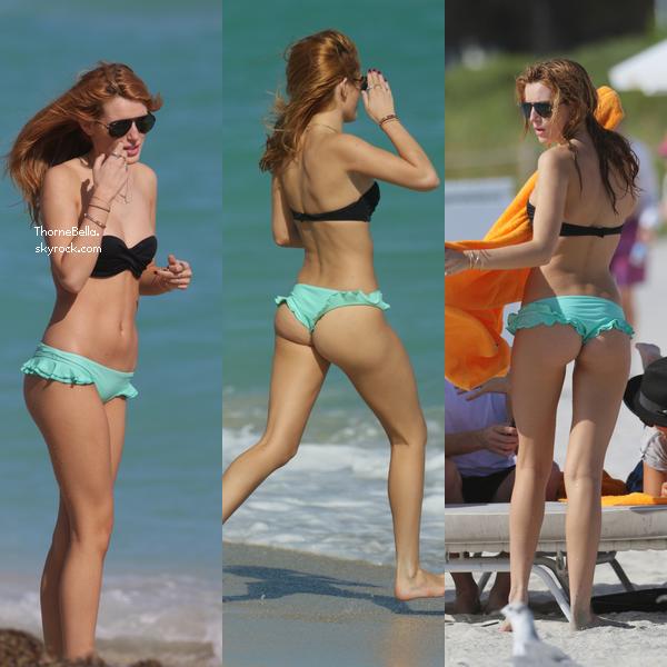Bella à la plage de Miami le 17 novembre.