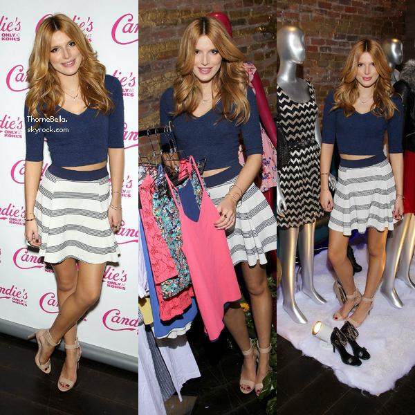 Bella a été à une soirée organisée par Candie's à NYC le 18 novembre.