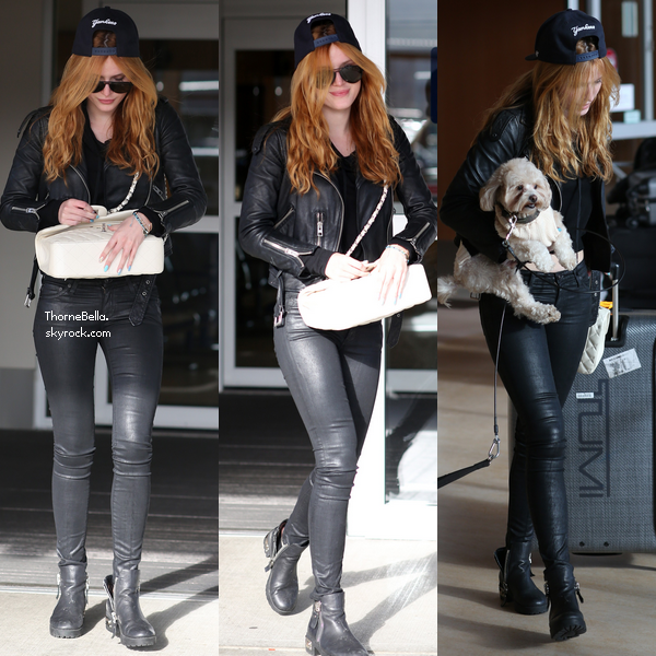 Bella a l'aéroport de Victoria le 28 janvier 2015.