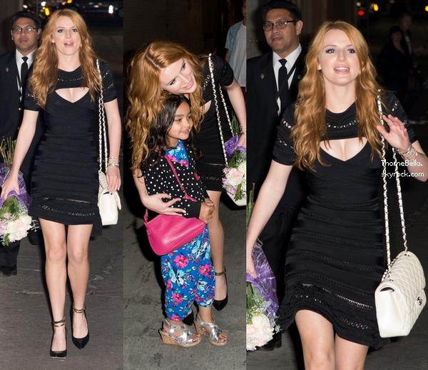 """Bella arrivant sur le set de l'émission """"Jimmy Kimmel Live"""" le 24 février."""