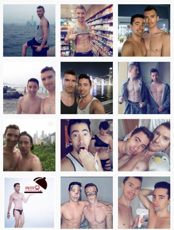 Couple gay sur instagram