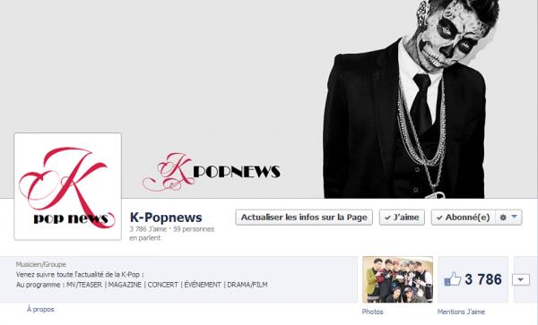 Retrouvez Kpopnews sur Facebook !