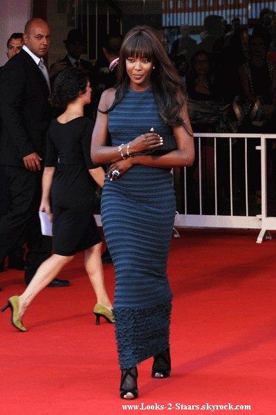 Naomi Campbell a honoré de sa présence la 67ème édition du Festival du film de Venise. La mannequin de 40 ans était là avec son chéri, le milliardaire russe Vladislav Doronin.