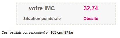 Archive ====> Calcul de l'IMC du poids de Départ