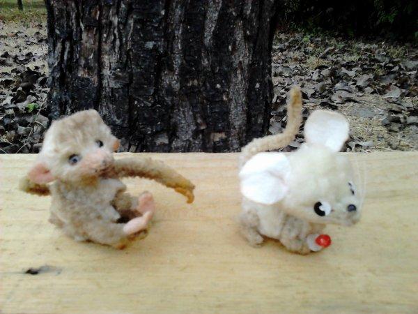 minis singe et souris anciens