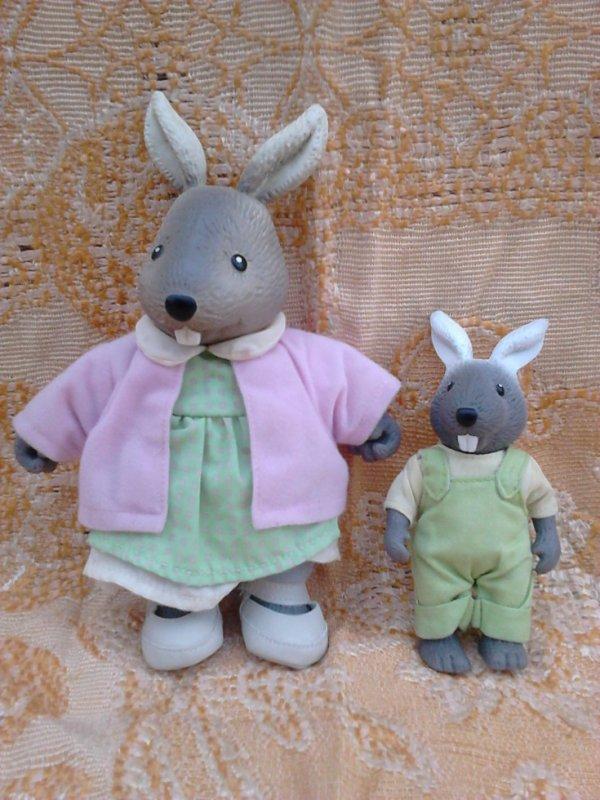 2 lapins copains de la foret