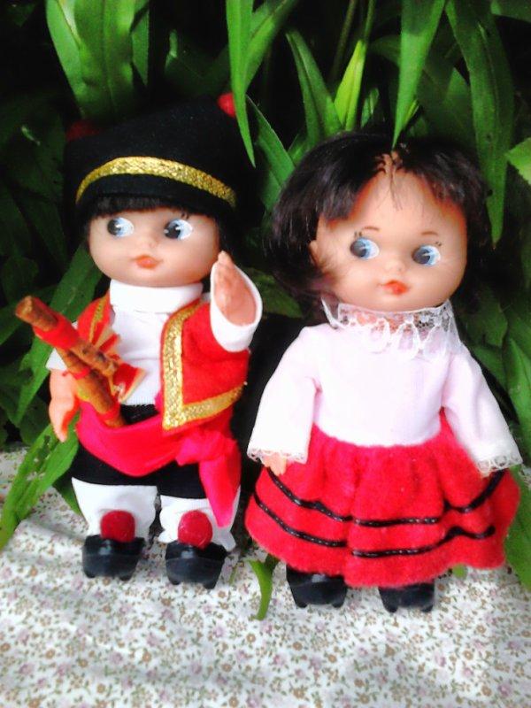 """couple de folkloriques  15cm """"roselly"""""""