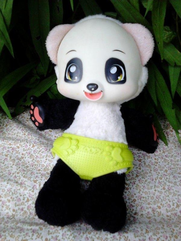 """ours panda """"zoopy"""" splashtoys pleure, tete etc.."""