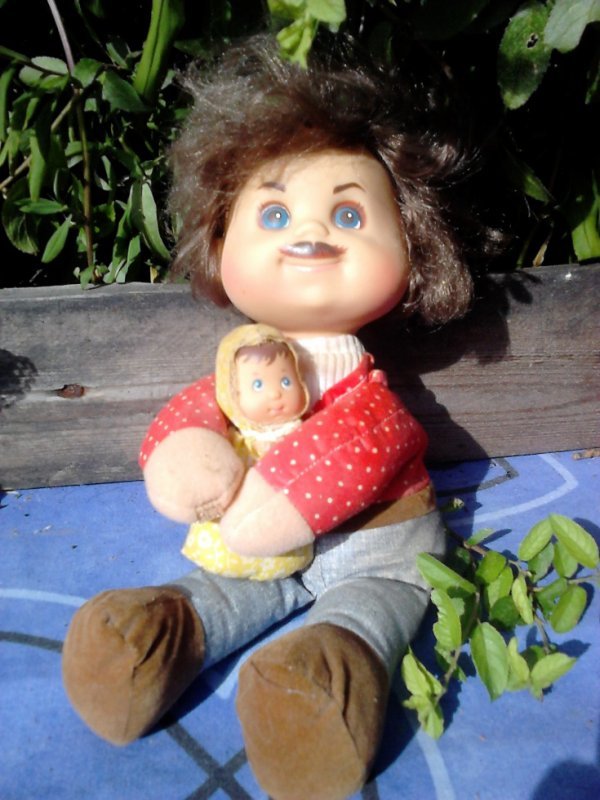 poupee mama and baby beans mattel 1977