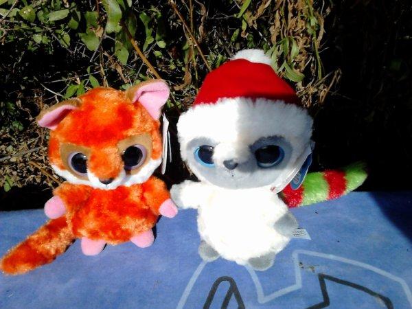 2 peluches yoohoo & friends