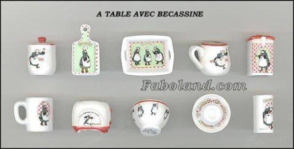 A TABLE AVEC BÉCASSINE