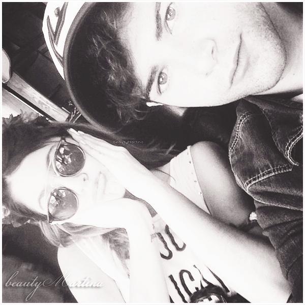 """. Voici une nouvelle photo personnelle de Martina en compagnie de son ami Diego Dominguez (Diego dans la saison 02 de """"Violetta"""") postée sur Instagram! ."""