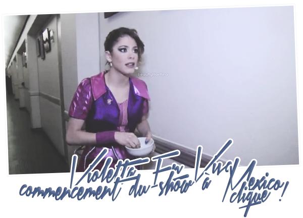 """. Découvrez une vidéo du commencement du show de """"Violetta En Vivo"""" au Mexique. Clique sur l'image pour voir la vidéo ! ."""