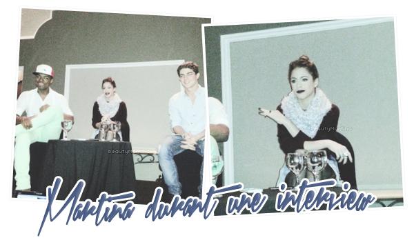 """. Le 11 novembre 2013, Martina et des membres du cast de """"Violetta"""" étaient interviewés au Guatemala.. ."""