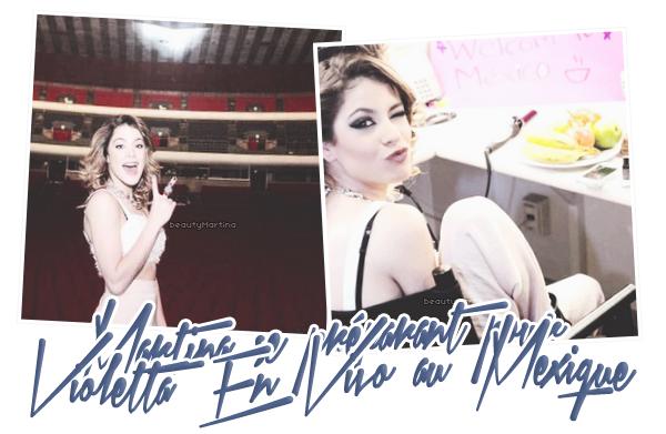 """. Martina se préparant pour """"Violetta En Vivo"""" au Mexique.. ."""