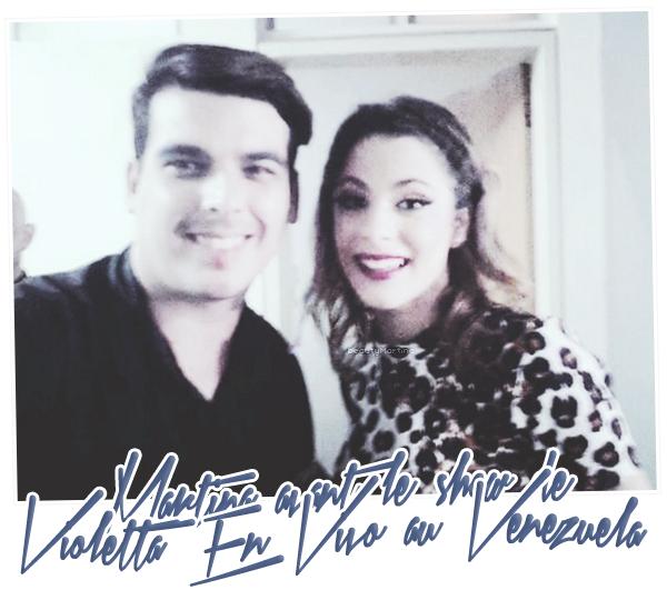 ". Martina avant le show de ""Violetta En Vivo"" au Venezuela. ."