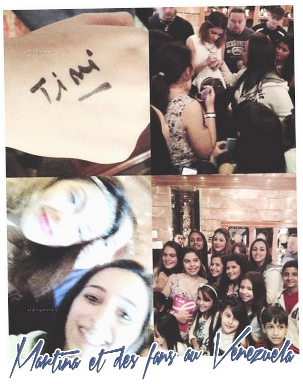. Martina et des fans au Venezuela. .