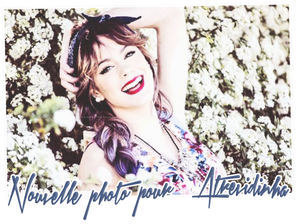 . Voici une nouvelle photo du shoot de Martina pour Atrevidinha ! .