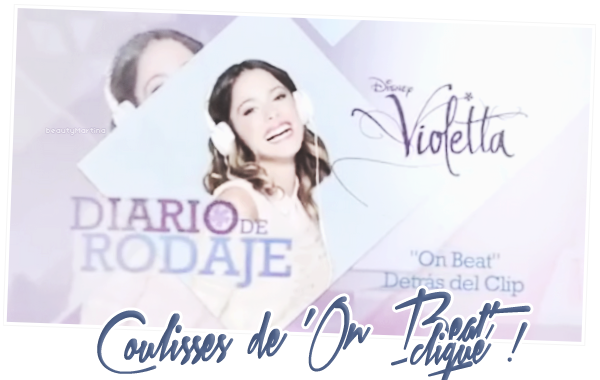 """. Voici des vidéos des coulisses de """"Violetta"""". Clique sur les images pour voir les vidéos ! ."""