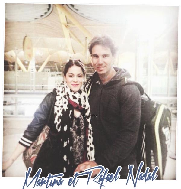 . Martina et Rafael Nadal en Espagne. .