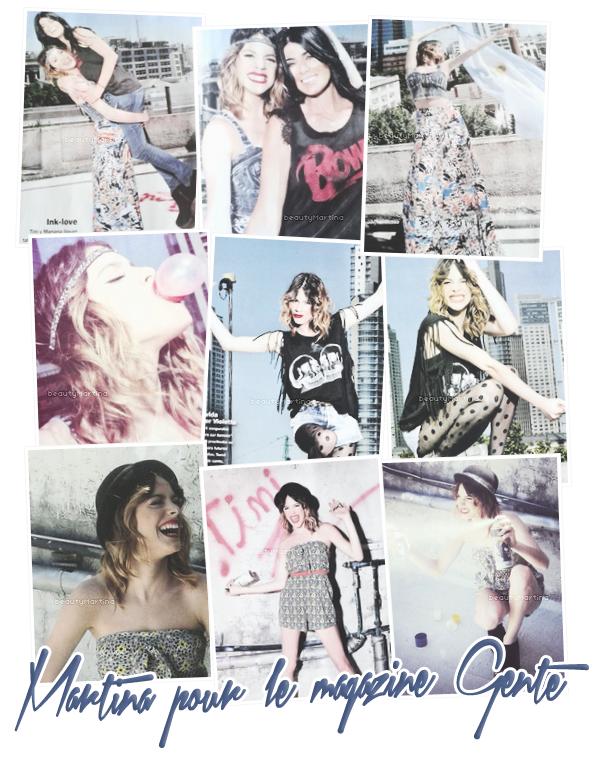 . Voici des photos du shoot de Martina pour le magazine Gente. .