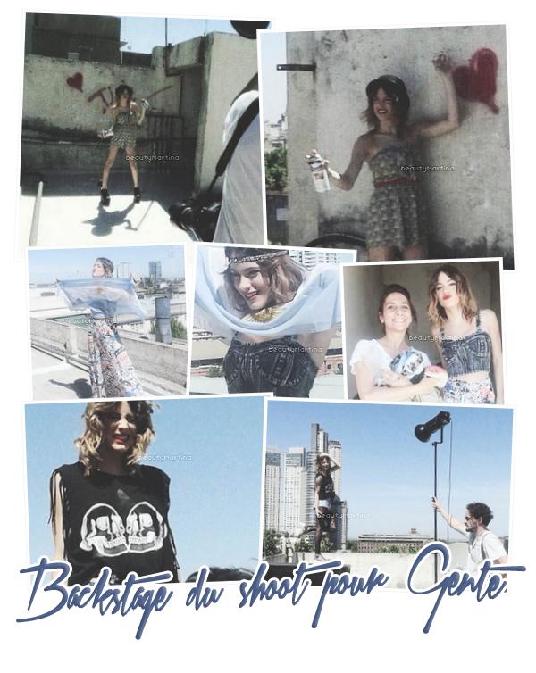. Voici quelques photos des coulisses du shoot pour le magazine Gente. .