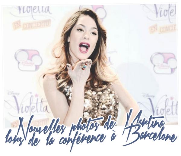 . Nouvelles photo et vidéo de Martina à la conférence à Barcelone le 02 décembre 2013. .