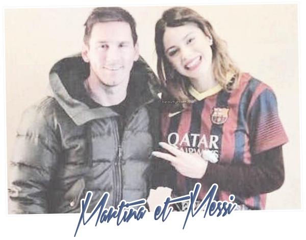 . Martina et Messi en Espagne. .