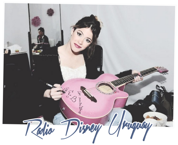 . Voici une photo de Martina pour Radio Disney Uruguay. .