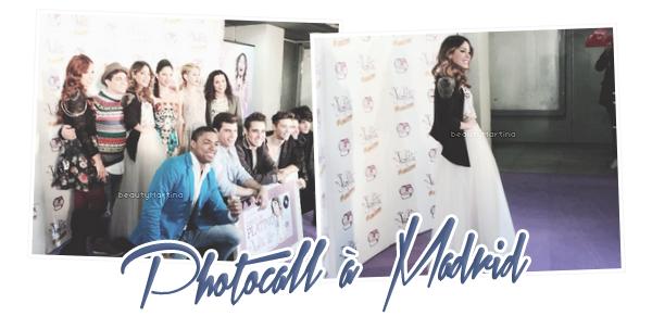 """. Martina et le cast de """"Violetta"""" à un photocall à Madrid le 08 décembre 2013 ! ."""