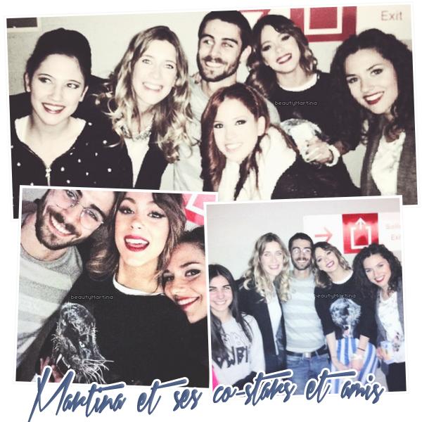 . Voici des photos de Martina et avec des amis et quelques unes de ses co-stars à Madrid. .
