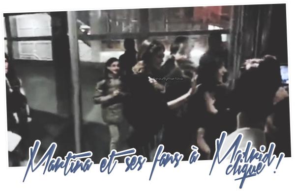 . Martina et ses fans à Madrid. Clique sur l'image pour voir la vidéo ! .