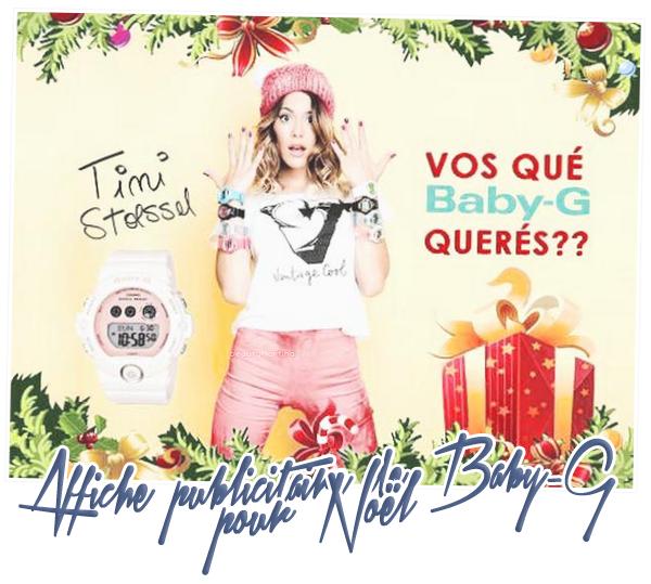. Nouvelle affiche publicitaire de Baby-G pour Noël. .