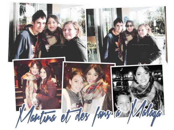 . Martina et des fans à Malaga. .