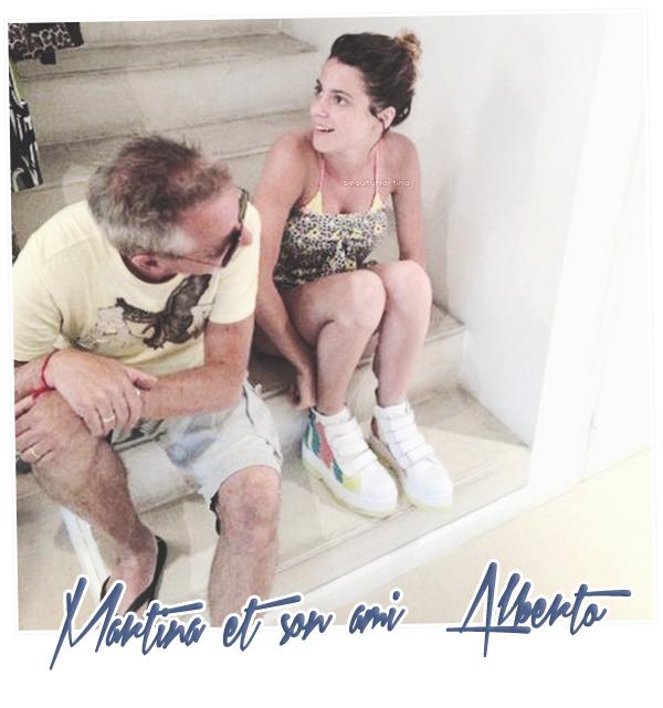 . Martina et son ami Alberto. .