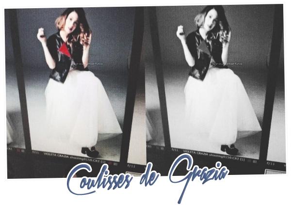 . Martina pour Grazia Magazine. .