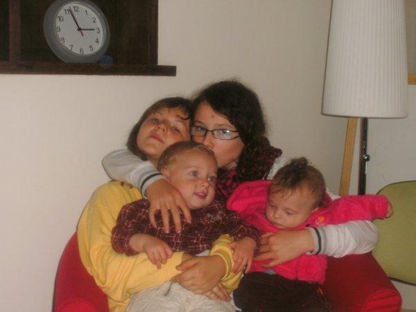 mes quatres enfants reuni