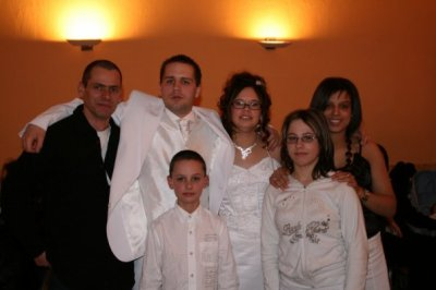 mon pere, eric, melanie, mon frere, ma soeur et moi
