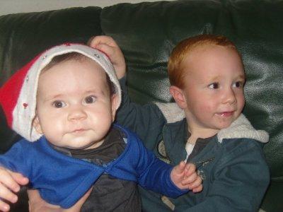ma petite cousine elena et mon petit cousin guillaume