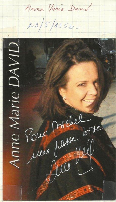 anne marie david   qui a  gagné il y a quelques annees  le grand prix de l'eurovision