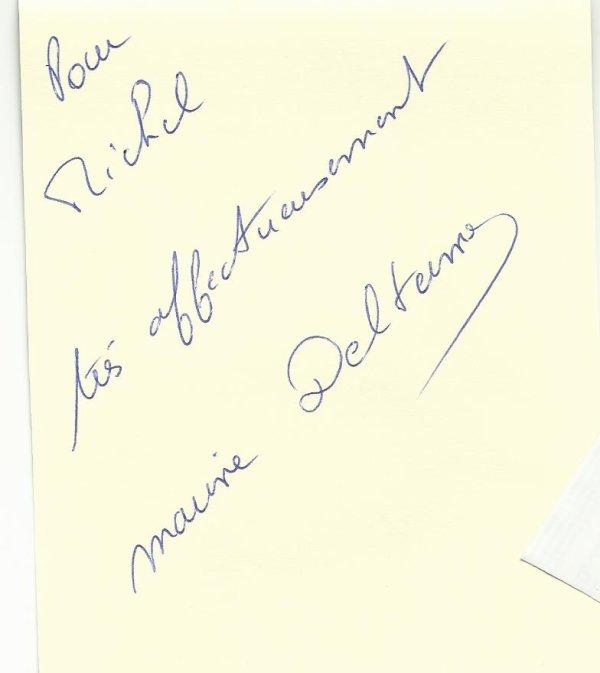 et voici le dernier autographe recu hier  il s'agit de marine delterme (alice nevers le juge est une femme )