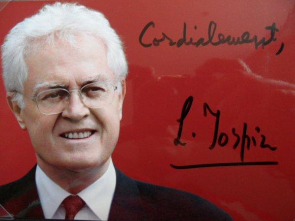 enfin je l'ai l'autographe de lionel jospin    l1 er ministre  de francois mitterand  le seul qui me manquait