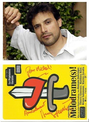voici le dernier autographe recu il sagit  de bruno salomone acteur  et humoriste