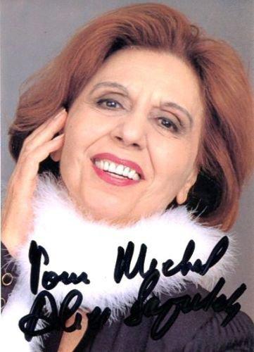 """j'ai retrouvé dans mes archives une photodedicac""""e par une grande dame du theatre et du cinema  d'origine belge voici madame alice sapritch"""