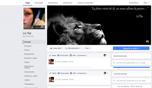 Page FAcebook Ouverte'