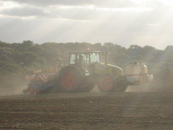 Semis de maïs 2012-----> Class Axos 340 et semoir Monosem