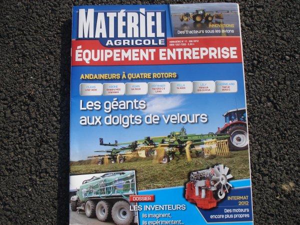 """Revue """" Matériel Agricole """" du mois de Mai (2012)"""