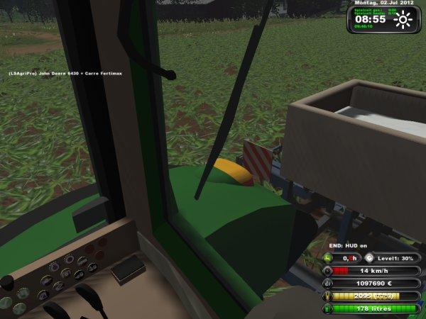 Epandage d'engrais et binage sur maïs 2012 ----> John Deere 6430