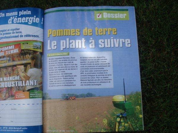 """Revue """" Matériel Agricole """" du mois d'Août ( 2012 )"""